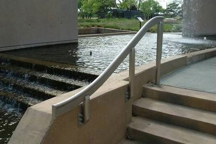 custom fabricated metal handrail