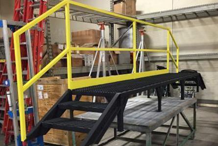 custom metal standing platform