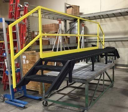 custom fabricated metal platform
