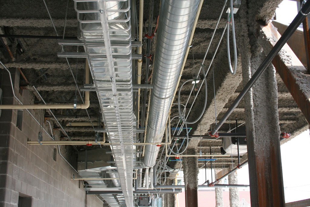 South Central Kansas Medical Center HVAC ducts