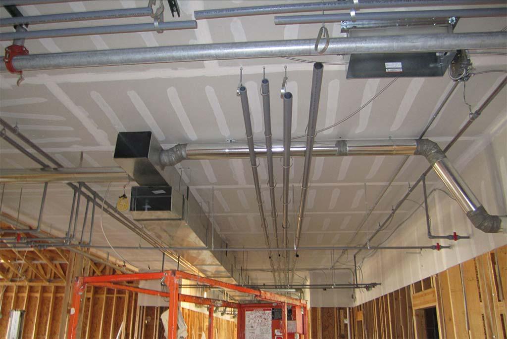 Larksfield Place duct work