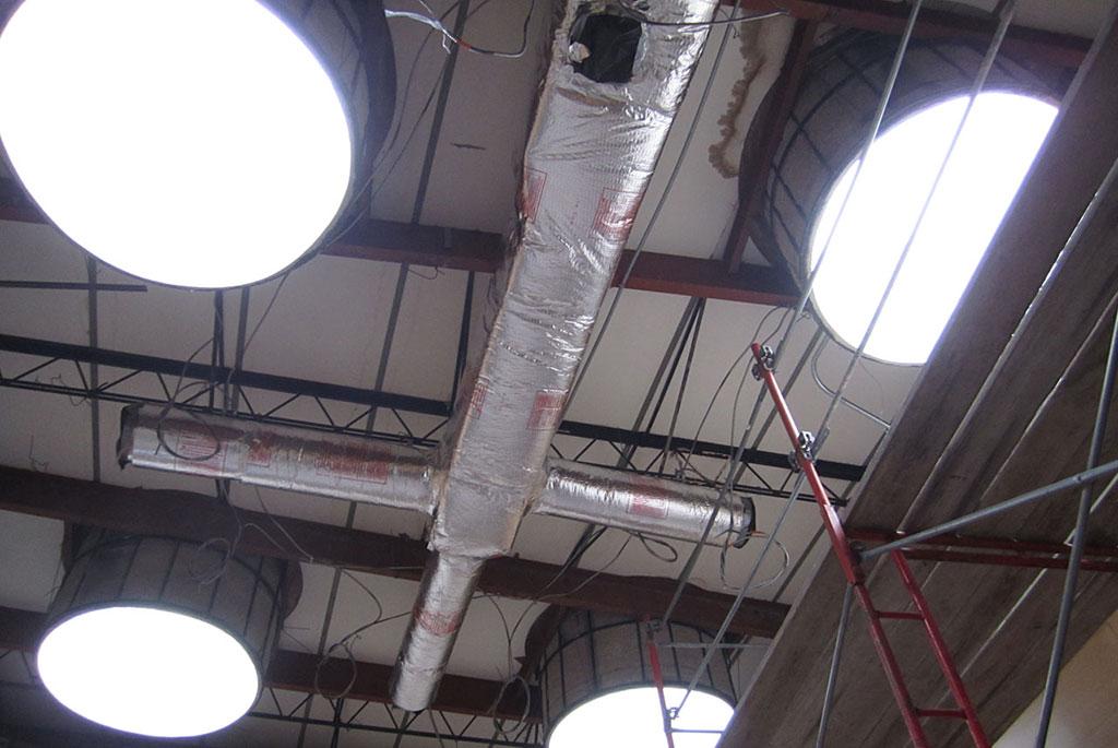 WSU Duerksen duct work