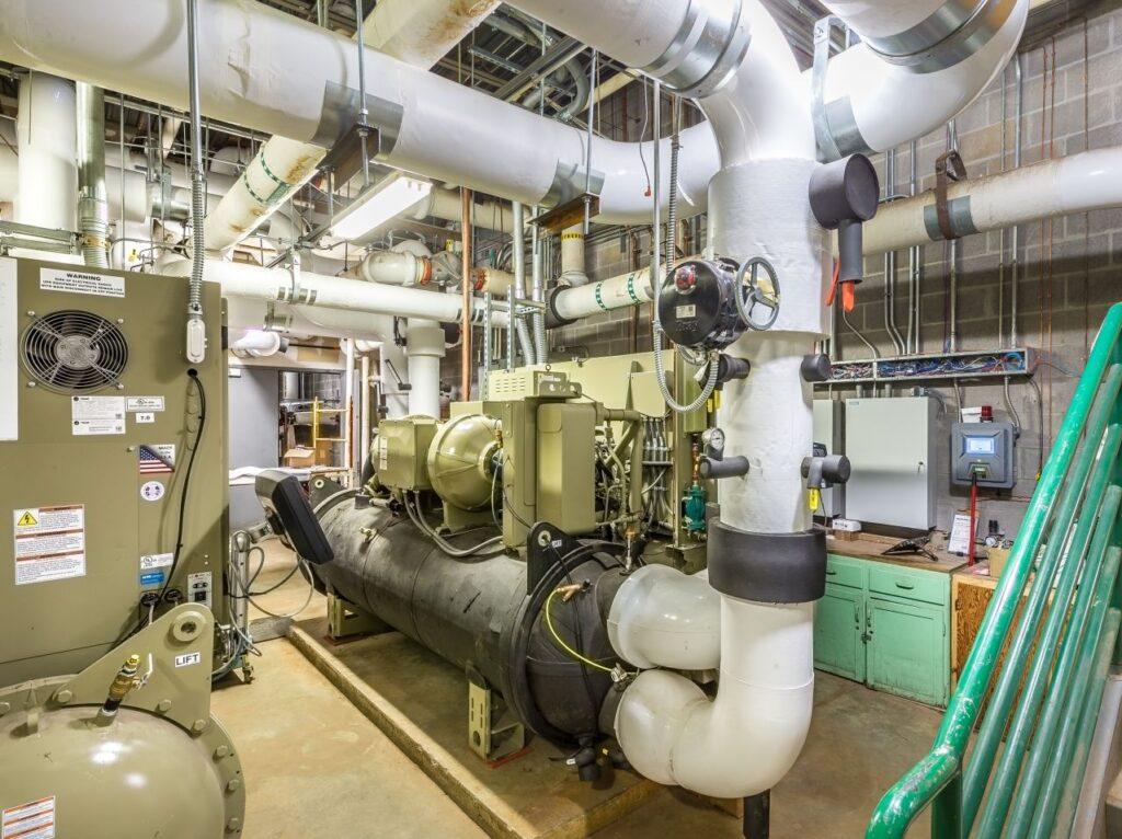 Derby High School Mechanical Room Dean E Norris Plumbing